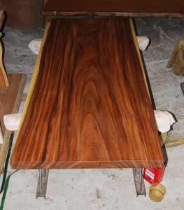 12 モンキーポッド材テーブル天板 (オイル仕上げ)
