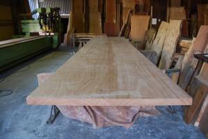 20 アパ材特大テーブルの制作 7600×1500 (無塗装)