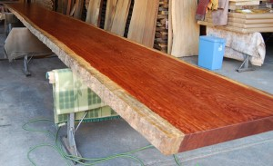 22 ブビンガ10mのビッグテーブル(オイル塗装)