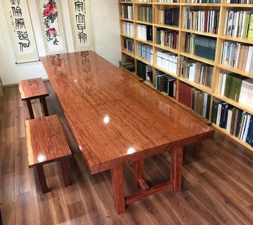 67 ブビンガ テーブル・ベンチ(ウレタン塗装)