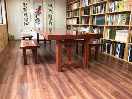 68 ブビンガ テーブル・ベンチ(ウレタン塗装)