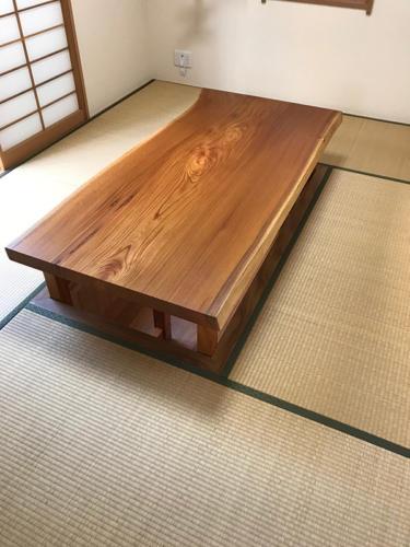 70 ケヤキ 座卓(オイル塗装)