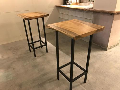 74 クス テーブル金属脚(オイル塗装)