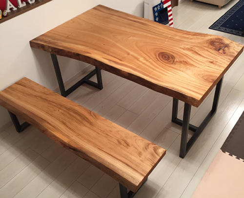 75 クス ダイニングテーブル・ベンチ(オイル塗装)