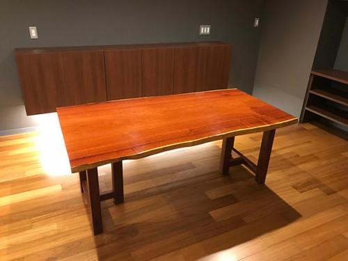77 カリン ダイニングテーブル 脚材:ブビンガ(ウレタン塗装)
